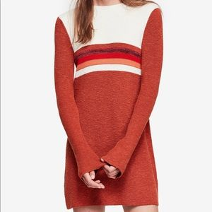 Free People Colorblocked Bell Sleeve Sweater Dress